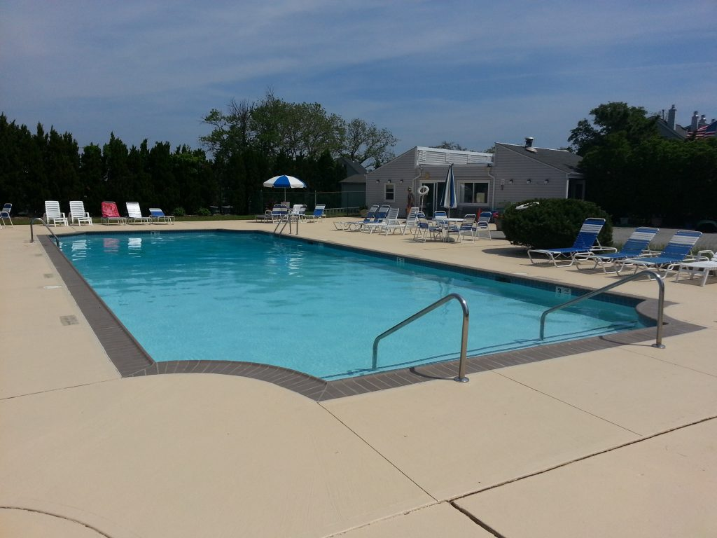 Sands Point North has a large community pool with rest rooms in the pool house.