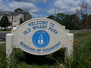Old Wharf Park on Oceanport Creek